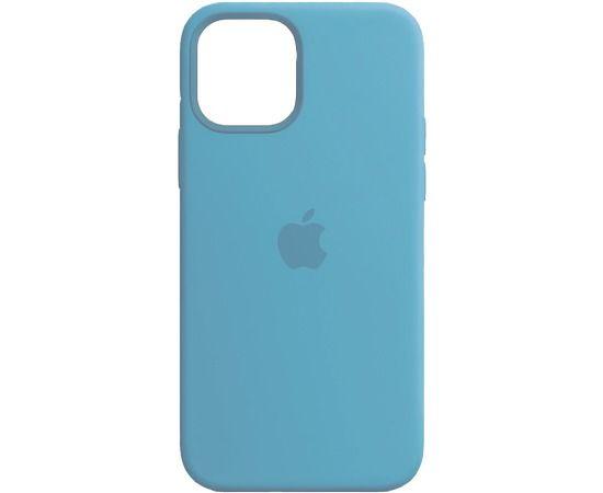 Чехол iPhone 12/12 Pro Silicone Case Aquamarine