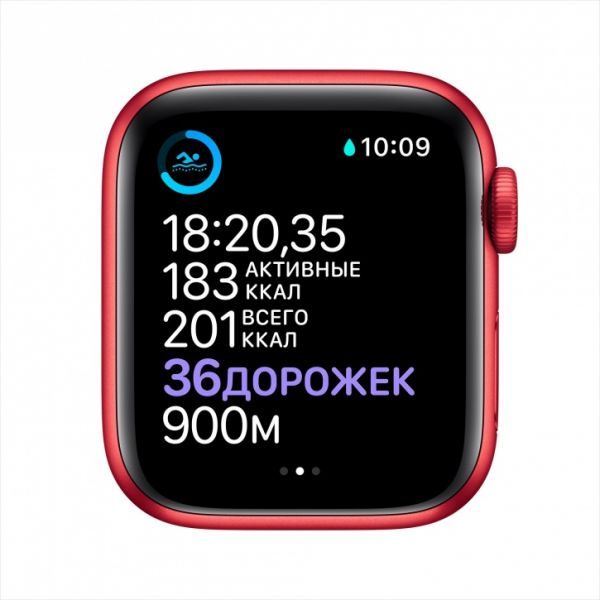 Apple Watch S6 44mm Red Aluminum Case / Red Sport Band