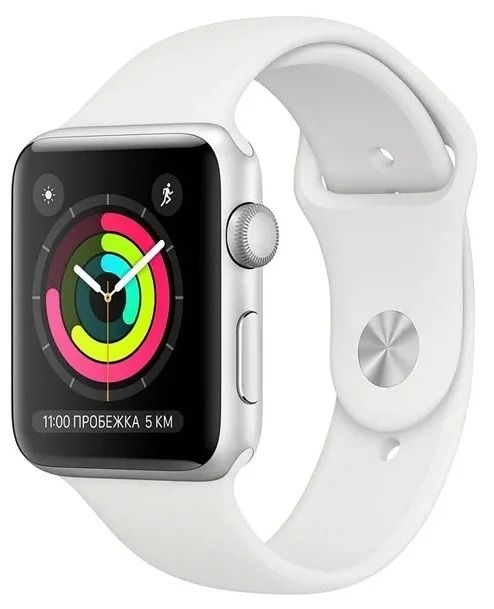 Apple Watch S3 38mm Silver Aluminum with White Sport Band